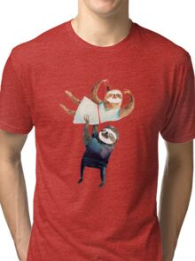 Slothy dancing - sloth couple Tri-blend T-Shirt