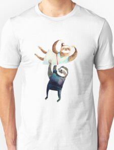Slothy dancing - sloth couple Unisex T-Shirt