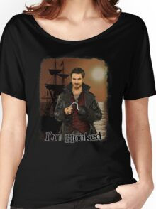 """Captain Hook """"I'm Hooked"""" Comic Design Women's Relaxed Fit T-Shirt"""