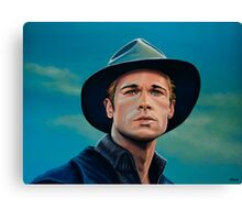 Brad Pitt Painting Canvas Print