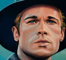 Brad Pitt Painting Sticker