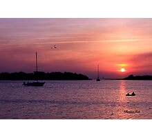 Ocracoke Island Harbor at Sunset Photographic Print