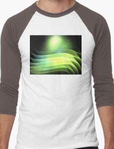 Citrus Lime Waves Men's Baseball ¾ T-Shirt