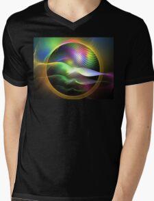 Rainbow Seagulls Mens V-Neck T-Shirt