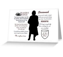 Outlander/Jamie Fraser/Quotes Greeting Card