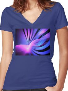 Aqua Lemuria Women's Fitted V-Neck T-Shirt