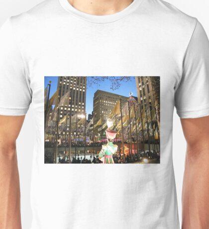 Rockefeller Center Skating Rink at Night, New York  T-Shirt