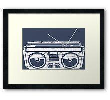 Child of the 1980's Eighties Radio Ga Ga Free Europe  Framed Print