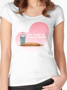 The Taste of Love is Sweet Women's Fitted Scoop T-Shirt