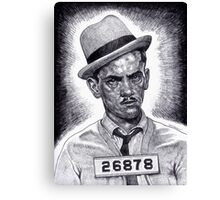 Don't Double Cross The Wise Guy!!! Canvas Print
