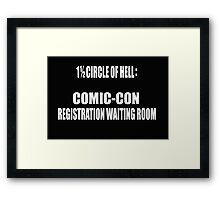 1 1/2 Circle Of Comic-Con Hell Framed Print