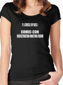 1 1/2 Circle Of Comic-Con Hell Women's Fitted Scoop T-Shirt