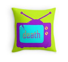 Death by TV Throw Pillow