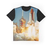 Space Shuttle Challenger (STS-6) Maiden Launch Graphic T-Shirt