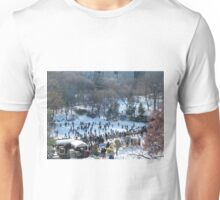 Wollman Rink, Central Park in Snow, New York City Unisex T-Shirt