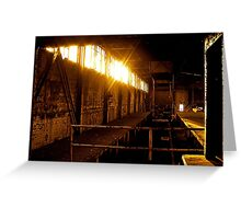 Golden Hour in Silvertown Greeting Card
