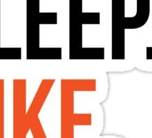 eat sleep bike repeat Sticker