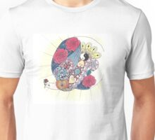 Joyful bird and Rosy Moon Unisex T-Shirt
