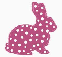 Pink Polka Dot Bunny One Piece - Short Sleeve