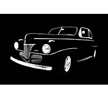 1941 Ford, Black on Black Photographic Print
