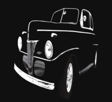 1941 Ford, Black on Black One Piece - Long Sleeve