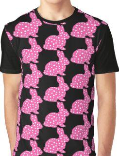 Pink Polka Dot Bunny Graphic T-Shirt