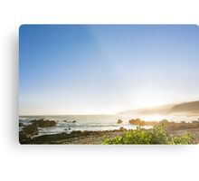 Coastal Afternoon Sunset Metal Print