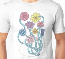 Flowers growing and blooming together Unisex T-Shirt