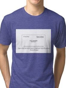 New Card, What Do You Think? Tri-blend T-Shirt
