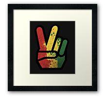 finger rasta Framed Print