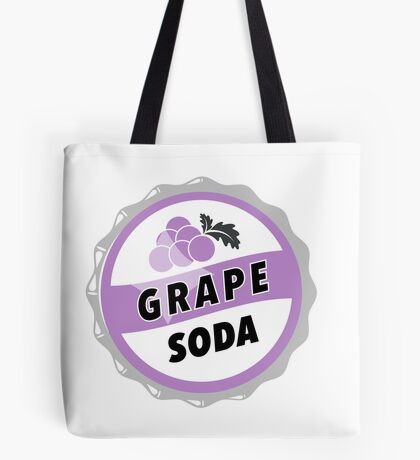 Grape Soda : UP Bottle Cap Tote Bag