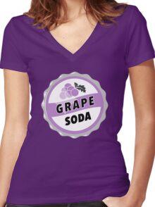 Grape Soda : UP Bottle Cap Women's Fitted V-Neck T-Shirt