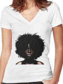Her Eyes Have Seen. She Knows Women's Fitted V-Neck T-Shirt