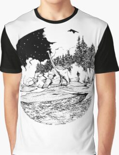 Dinosaur in the Bay of Fundy Graphic T-Shirt