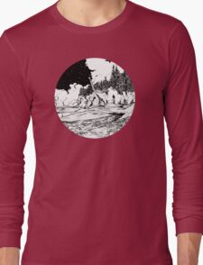 Dinosaur in the Bay of Fundy Long Sleeve T-Shirt