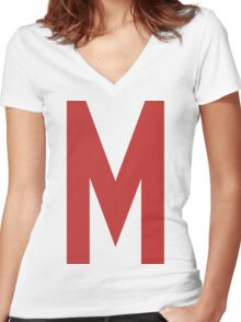 Mighty Max's T-Shirt Women's Fitted V-Neck T-Shirt