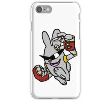 Robotic Arms on a Rowdy Rabbit! iPhone Case/Skin