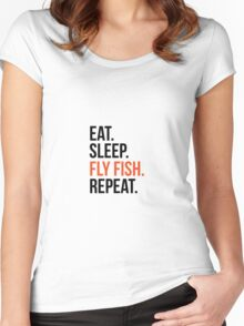 at sleep fly fish repeat Women's Fitted Scoop T-Shirt