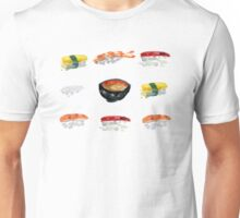 Sushi and Miso Soup Grid Unisex T-Shirt