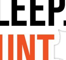 eat sleep hunt repeat Sticker