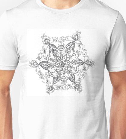 Radiating floral mandala Unisex T-Shirt