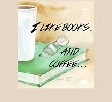 I like books... and coffee Womens Fitted T-Shirt