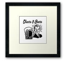 Cheers And Beers retro man Framed Print