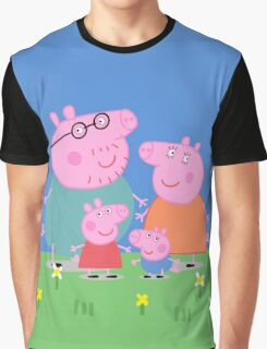Peppa Family Graphic T-Shirt