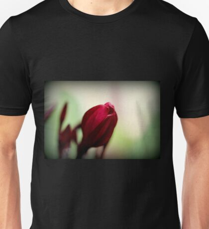 Red Frangipani Bloom Unisex T-Shirt