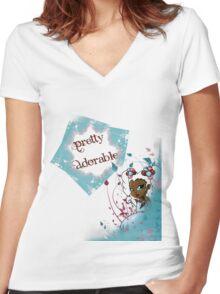 Sweet Sherbet Ebonie Women's Fitted V-Neck T-Shirt