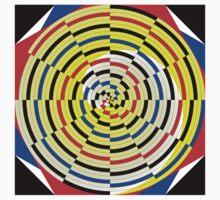 Yellow Spirals One Piece - Short Sleeve