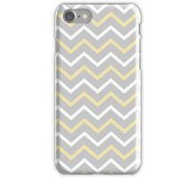Zig Zag Grey Yellow White Phone Case iPhone Case/Skin