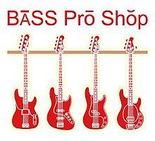 Bass guitar pro shop Photographic Print