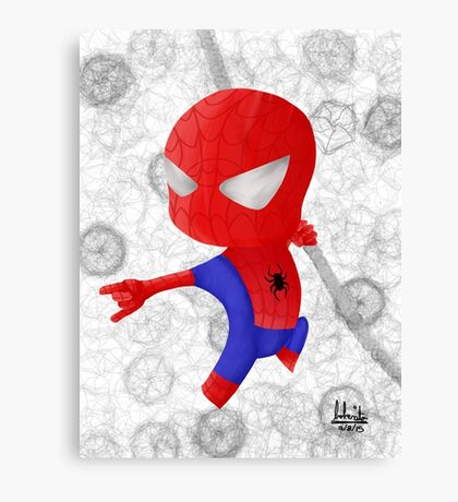 Chibi Spiderman Canvas Print